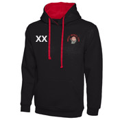 Women's Contrast Pullover Hoodie - with Initials